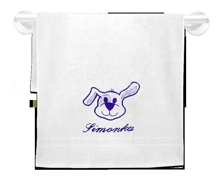 Froté ručník se jménem a obrázkem 50x100cm,400 g/m²